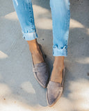 Logan Faux Suede Loafer - Grey