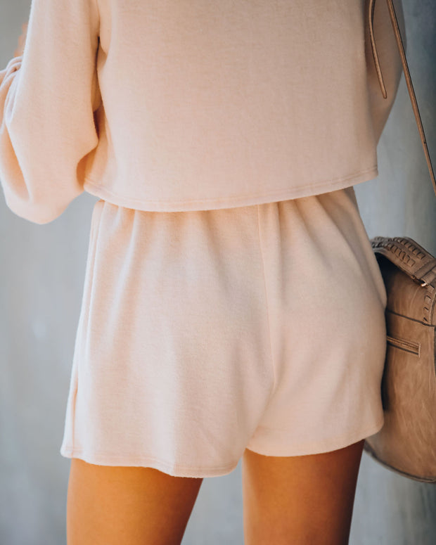 Siesta Time Knit Shorts - Blush  - FINAL SALE