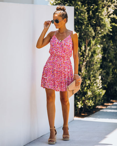 One Sweet Day Floral Tiered Ruffle Dress