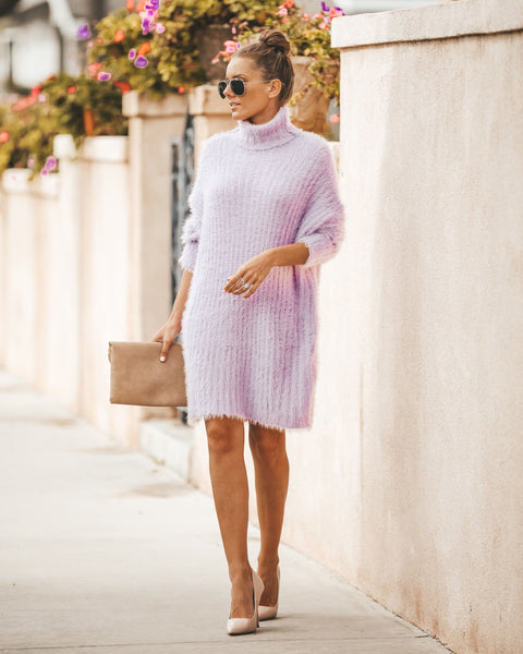 Hold Me Close Sweater Dress - Pink Lavender - FINAL SALE