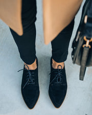 Bailey Faux Suede Pointed Loafer