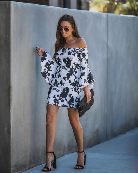 Joanna Off The Shoulder Bell Sleeve Dress