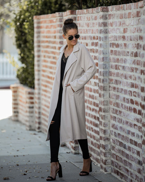 Juno Pocketed Drape Coat