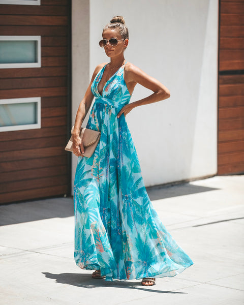 Playful Palms Maxi Dress