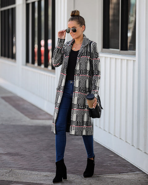 Touch Of Class Pocketed Knit Coat