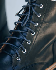 PREORDER - Brycen Faux Leather Lace Up Boot