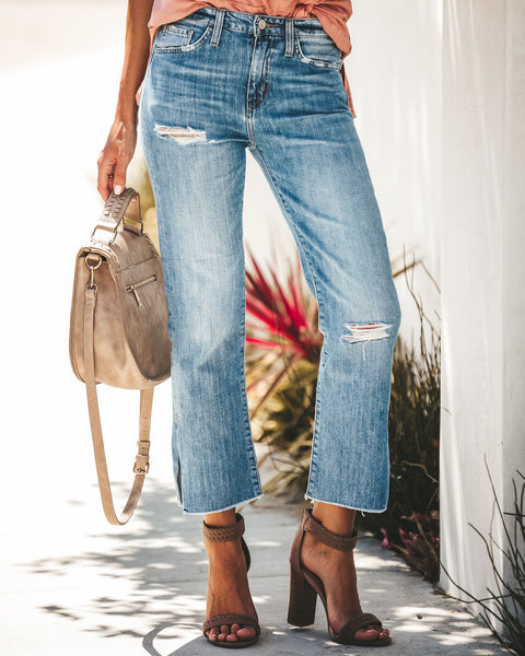 42d19d58218 Kacey High Rise Relaxed Distressed Denim