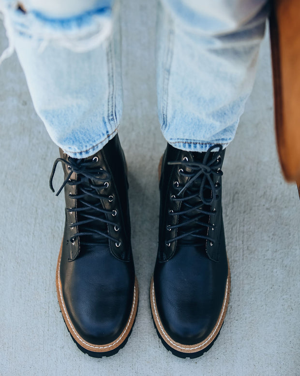 Brycen Faux Leather Lace Up Boot view 9