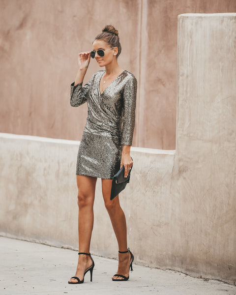 Stardust Sequin Twist Dress - FINAL SALE