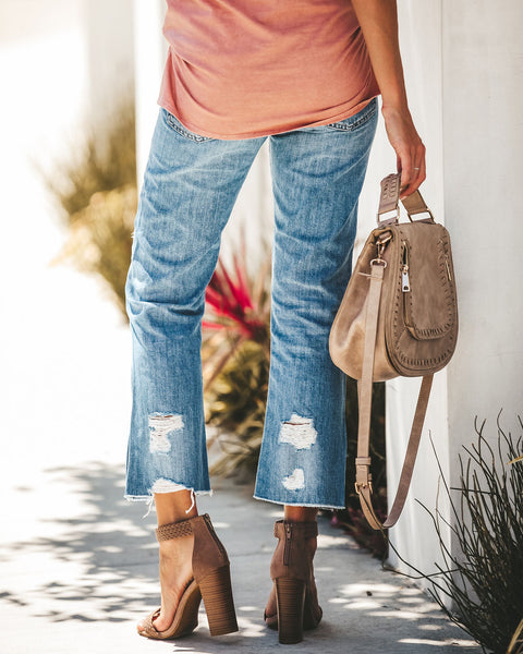 Kacey High Rise Relaxed Distressed Denim