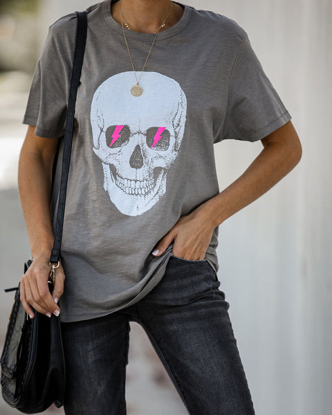 Blinded By The Light Cotton Skull Tee