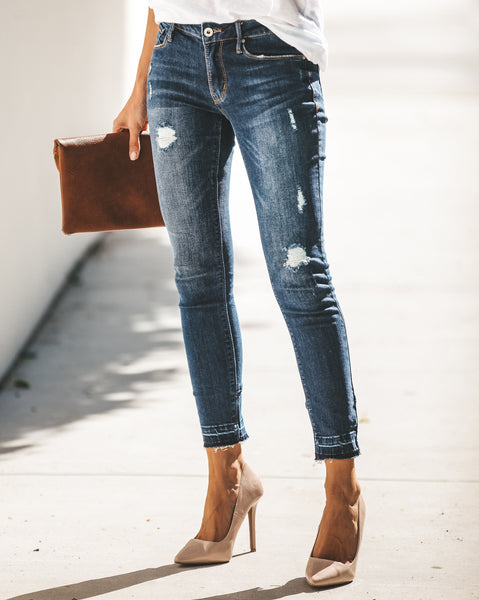Victoria Distressed Zip Ankle Skinny - FINAL SALE