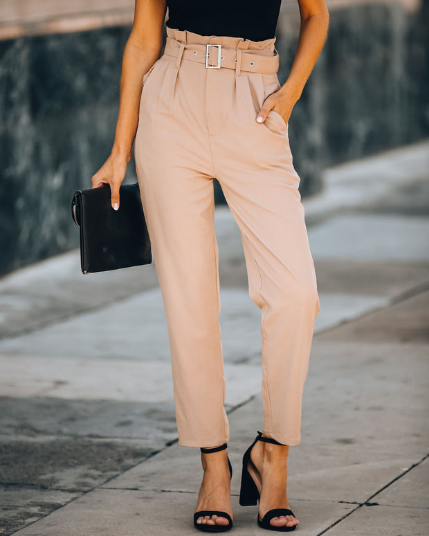 Notting Hill Pocketed High Rise Belted Trousers - FINAL SALE