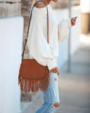 Cheyenne Fringe Crossbody Bag - Tan