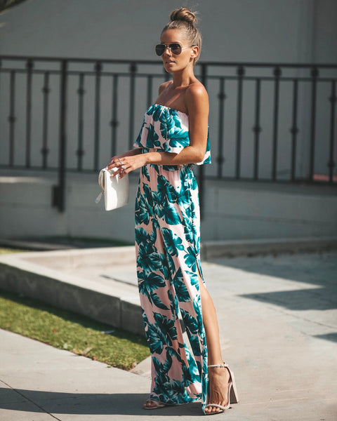 Island Girl Strapless Jumpsuit