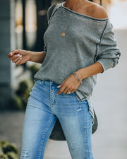 Pivot Cotton Blend Long Sleeve Thermal Top - Sage