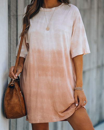 Hidden Hills Cotton Ombre T-Shirt Dress