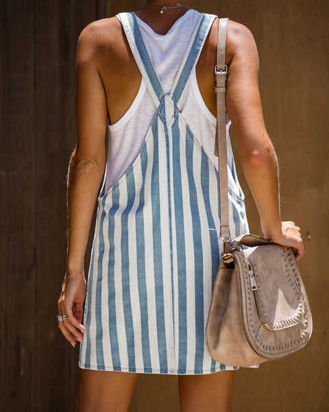 Cavalli Cotton Striped Pocketed Overall Dress - FINAL SALE