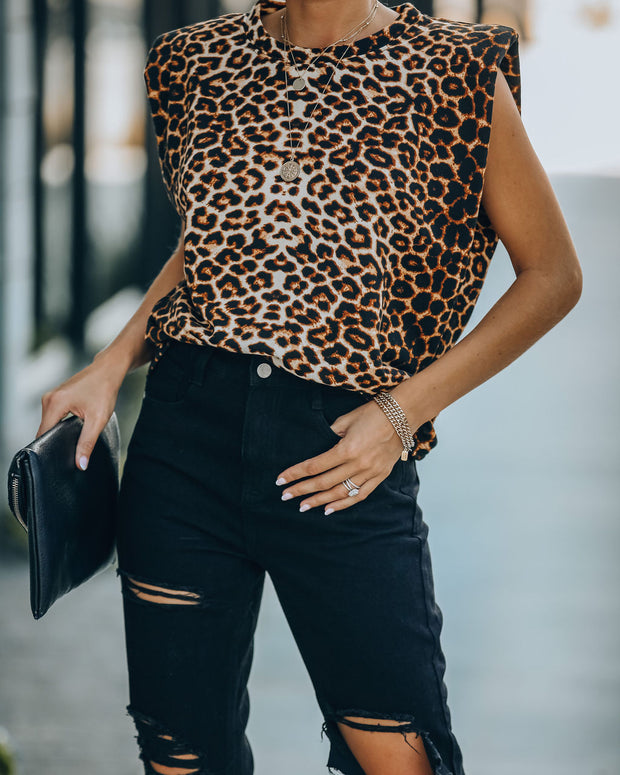 Monique Leopard Padded Muscle Tee