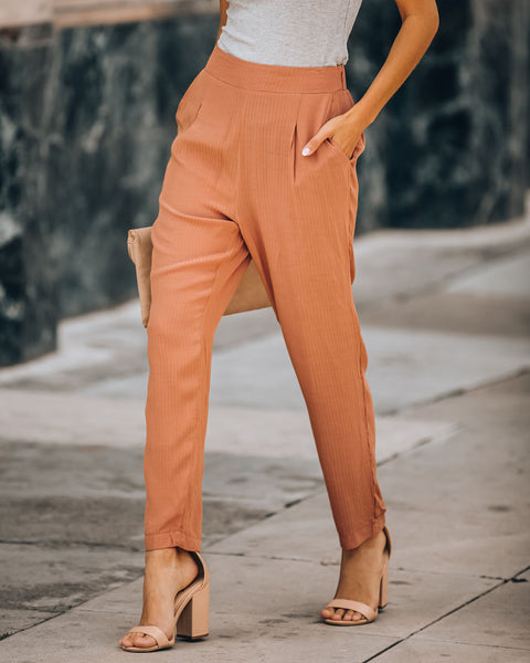 Meadow Fresh Pocketed Pants - Clay