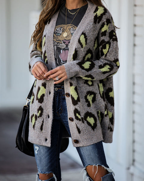 Intuitive Button Down Leopard Cardigan - FINAL SALE