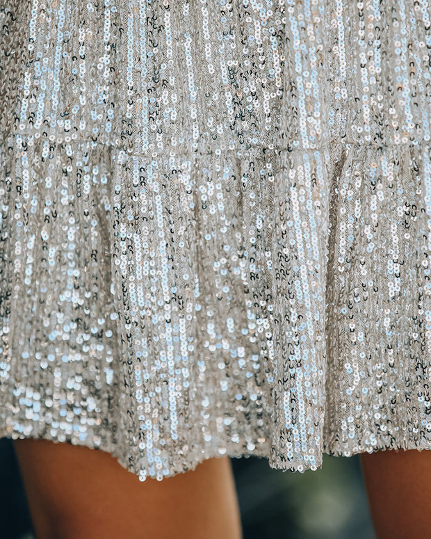 Best Is Yet To Come Sequin Tiered Mini Dress view 4