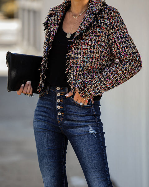 Twinkle And Dim Cropped Tweed Jacket  - FINAL SALE
