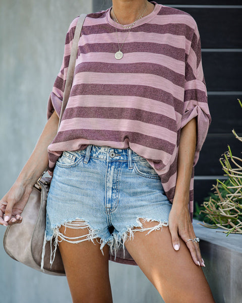 Redondo Striped Relaxed Knit Top