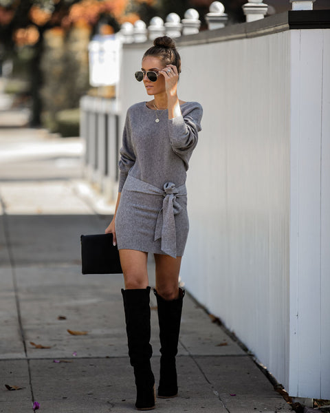 Rain Will Fall Dolman Knit Sweater Dress  - FINAL SALE