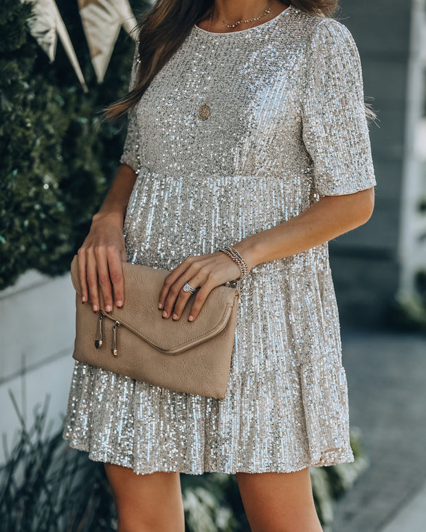 Best Is Yet To Come Sequin Tiered Mini Dress view 3