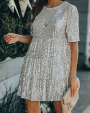 Best Is Yet To Come Sequin Tiered Mini Dress view 9