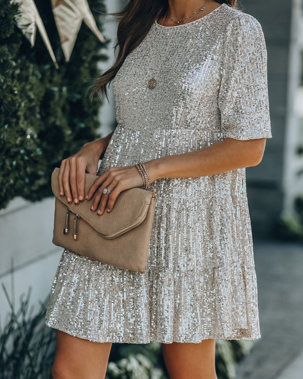 Best Is Yet To Come Sequin Tiered Mini Dress view 10