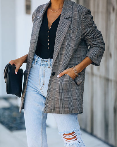 Waldorf Pocketed Plaid Relaxed Blazer