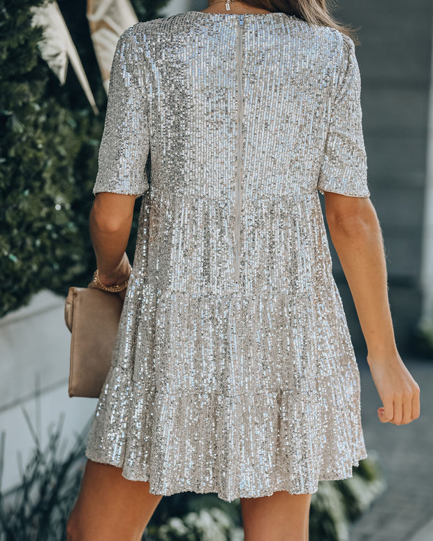 Best Is Yet To Come Sequin Tiered Mini Dress view 2