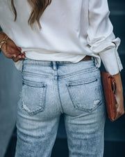 Rory High Rise Distressed Denim view 9