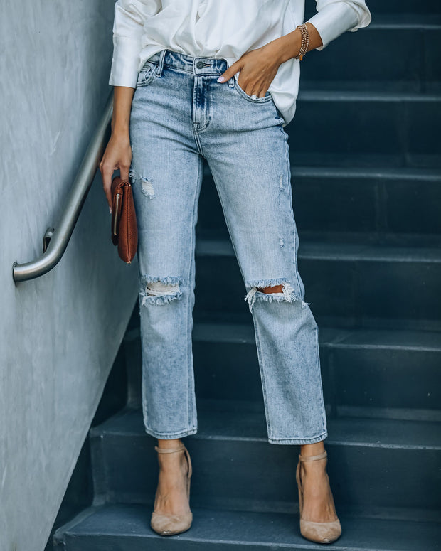 Rory High Rise Distressed Denim view 7