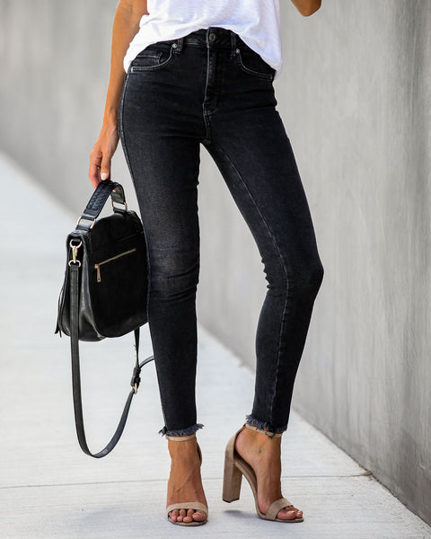 Kenny High Rise Frayed Ankle Skinny - FREE PEOPLE - FINAL SALE