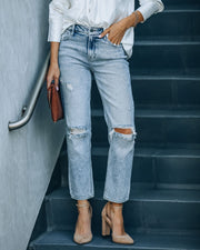 Rory High Rise Distressed Denim view 1