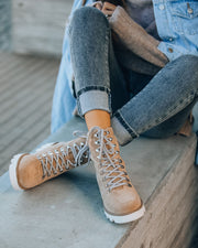 Arlene Faux Suede Lace Up Boot