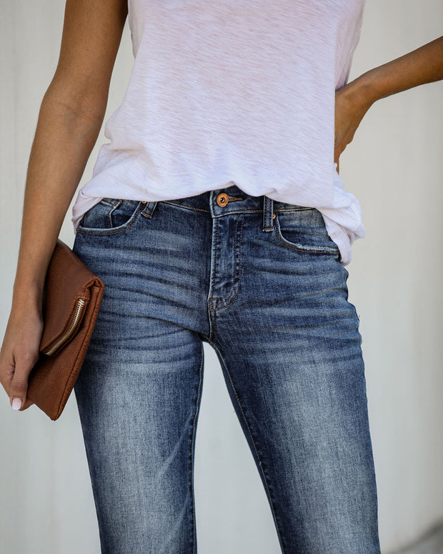 Musa Distressed Mid Rise Skinny  - FINAL SALE