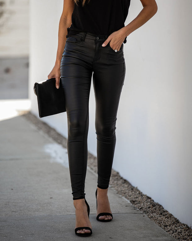 Famous Mid Rise Coated Skinny - FINAL SALE