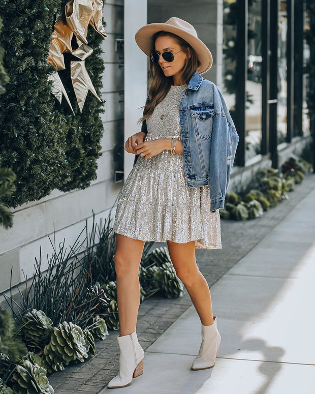 Best Is Yet To Come Sequin Tiered Mini Dress view 7
