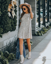 Best Is Yet To Come Sequin Tiered Mini Dress view 5