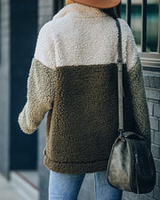 In Plain Sight Pocketed Sherpa Pullover