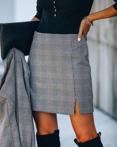 Waldorf Plaid Mini Skirt