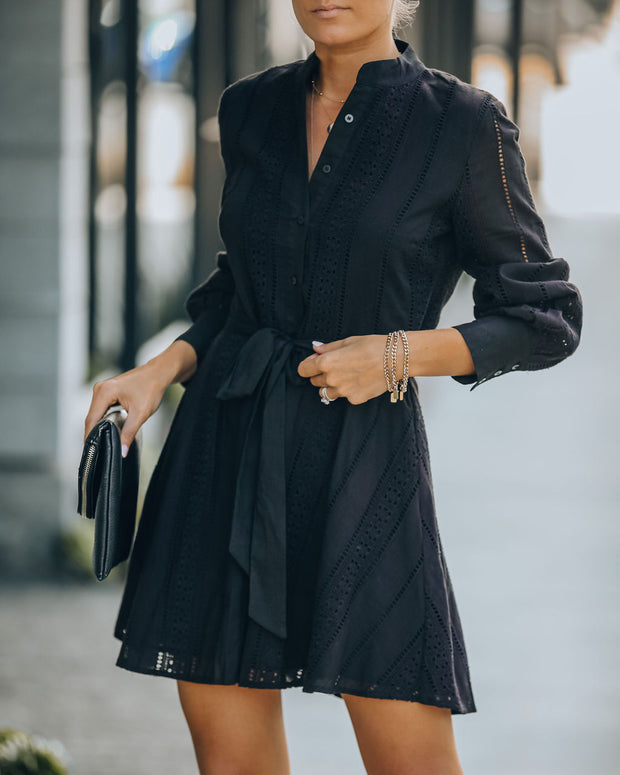 Artisan Cotton Button Down Eyelet Dress