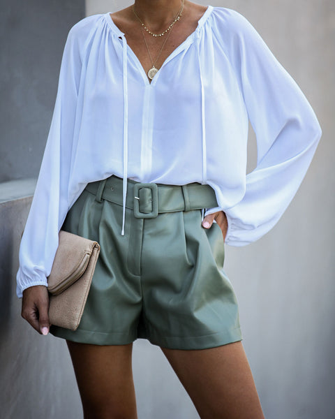 Down To Business Blouse - White
