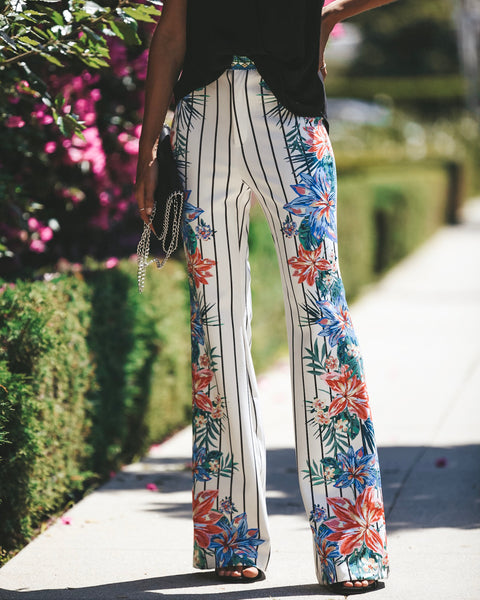 Steal My Sunshine Mirror Print Pants - FINAL SALE