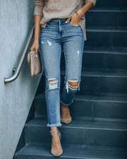 Maxwell High Rise Distressed Denim view 1