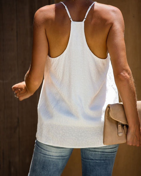 Notorious Leopard Embossed Cami Tank - Off White